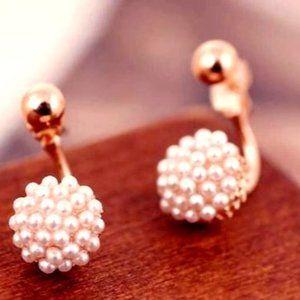 Pearl Swoop Earrings